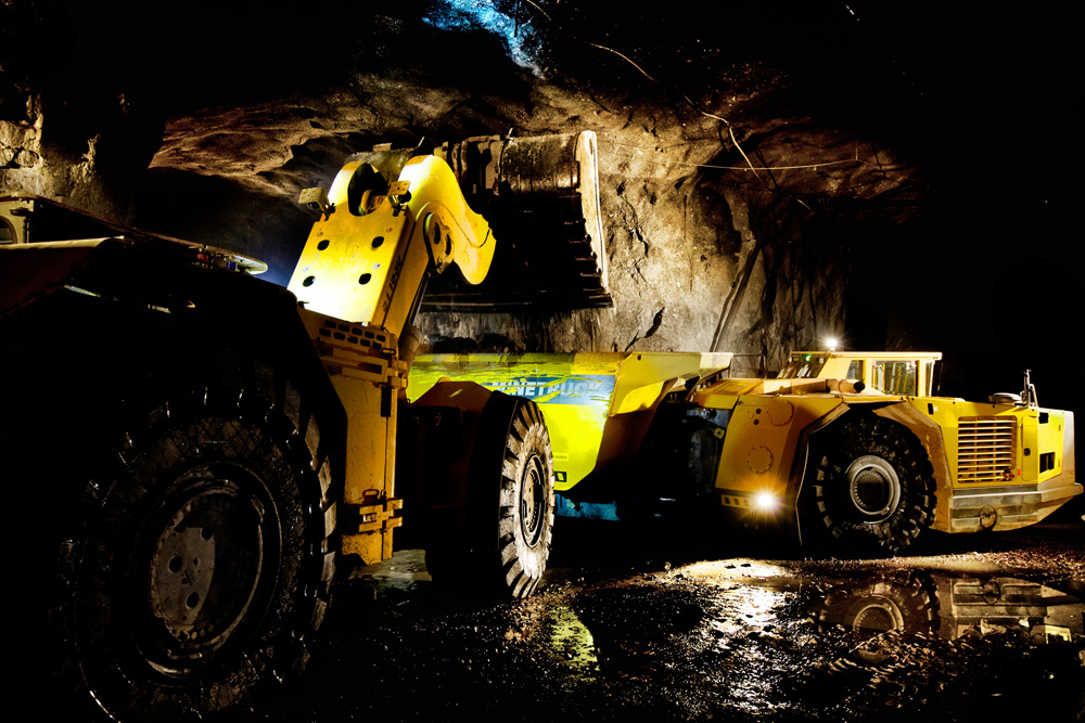 Broson Wheels – in Garpenberg Mine, Sweden Gruvmaskiner